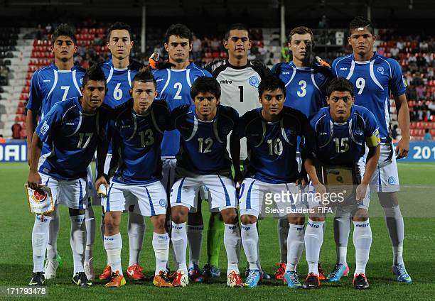The El Salvador players pose for a team photograph before the FIFA U20 World Cup Group C match between El Salvador and Colombia at Kamil Ocak Stadium...