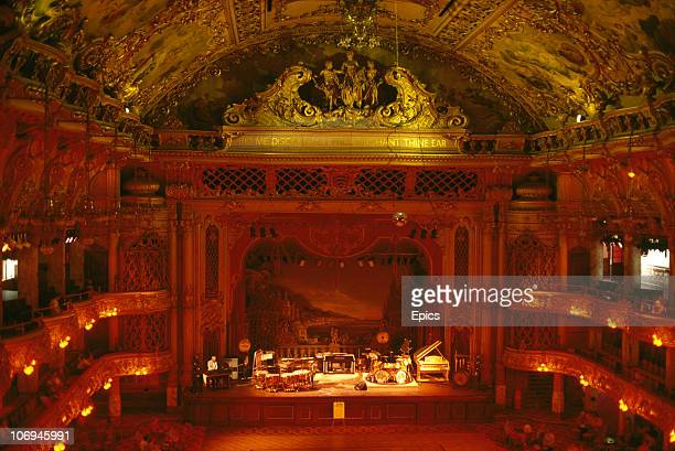 The elaborate interior of the Tower Ballroom which opened in 1899 Blackpool Lancashire April 1987