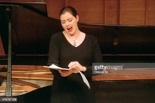 The Elastic Band performing at Merkin Concert Hall on Tuesday afternoon May 14 2002This imageMary Nessinger performing Alma Mahler's 'Funf Lieder'