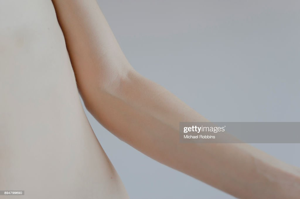 The Elbow of a Female Model : Stock-Foto