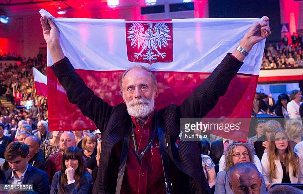 The election convention political party Law and Justice the largest opposition party in Poland June 20 Warsaw Poland In photo