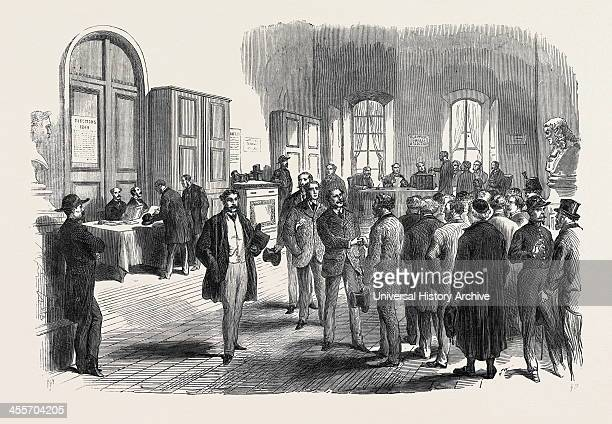 Electors Voting At The Mairie Of The Louvre 1869