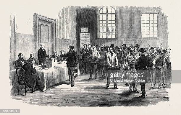 Electors Voting At The PollingPlace In The Faubourg St Antoine 1869