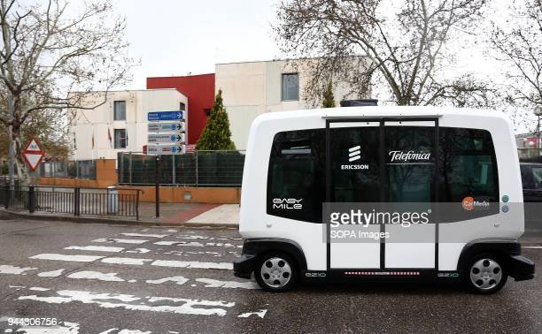 The electric autonomous vehicle has zero emissions and it produce very little noise Telefónica presented today in Talavera de la Reina the first 5G...