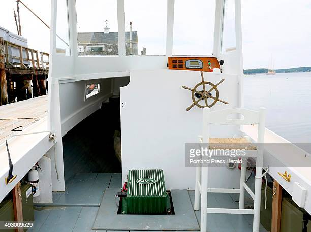 """The electric battery on the electric powered lobster boat """"Electra"""" at Boothbay Harbor on July 8, 2013."""