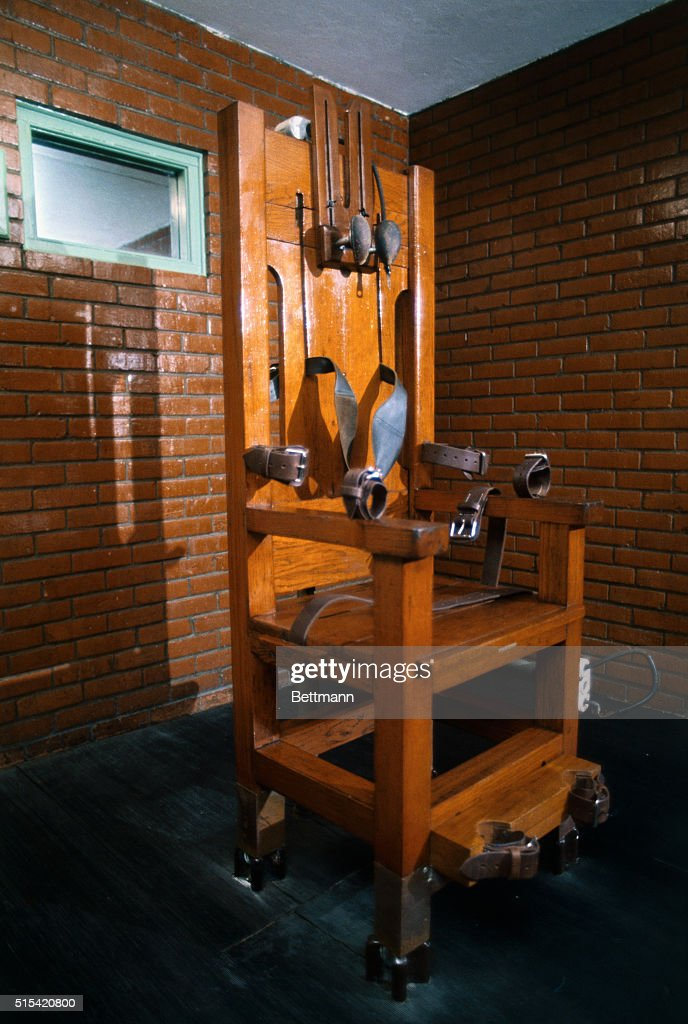 The electric chair used for executions in the Huntsville Prison Huntsville Texas. & Electric Chair in the Texas Prison Museum Pictures | Getty Images
