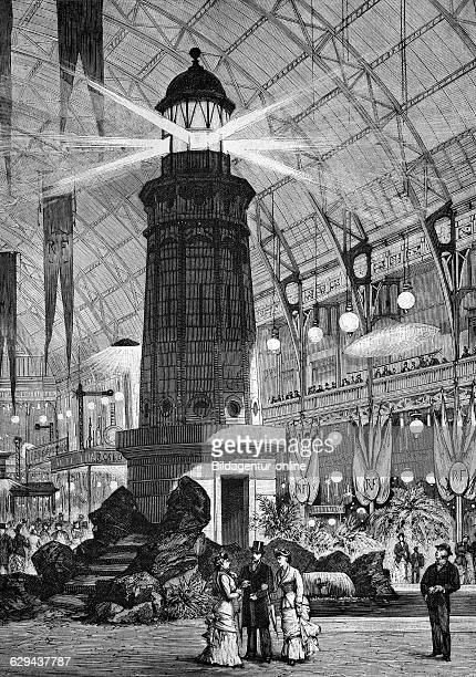 The electrical exhibition in paris in 1881 france historical engraving of 1883