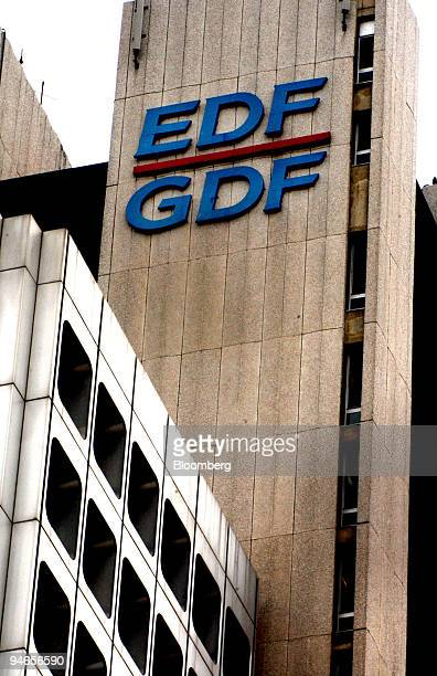 The Electricite de France/Gaz de France logo is seen on the company's headquarters in Paris France Friday July 8 2005
