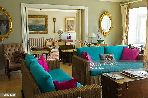 The elegant drawing room at traditional The Quay House Hotel Clifden County Galway Ireland