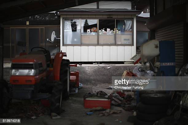 The elements and nature take over homes and businesses inside the radiation contamination exclusion zone close to the devastated Fukushima Daiichi...