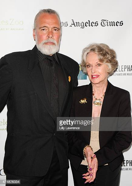 The Elephant Man Chris Gallucci and actress Tippi Hedren attend KCETLink presents The Green Carpet World Premiere and Panel Discussion Of EARTH FOCUS...