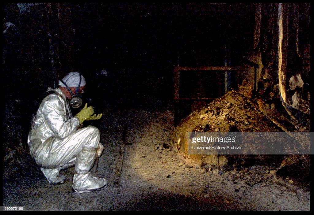 The Elephants Foot of the Chernobyl disaster. : News Photo
