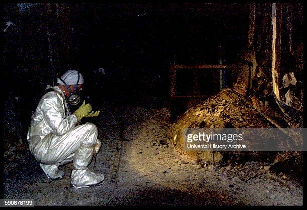 The Elephants Foot of the Chernobyl disaster. In the immediate aftermath of the meltdown, a few minutes near this object, would bring certain death....