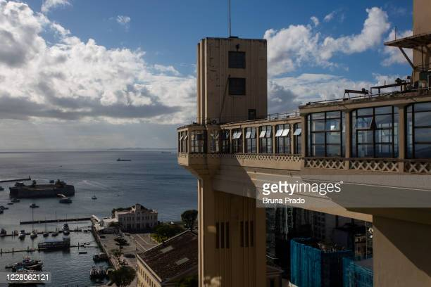 The Elevador Lacerda remains out of service amidst the coronavirus pandemic on August 15 2020 in Salvador Brazil The Lacerda Elevator is part of the...
