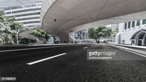 The elevated road in central Hong Kong.