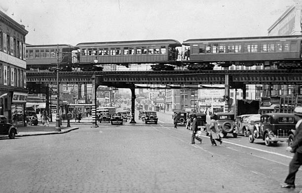 The elevated train (El) at Myrtle Avenue and Flatbush Avenue
