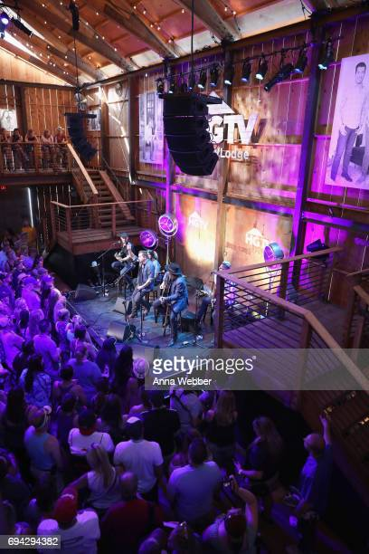 The Eli Young band performs onstage at the HGTV Lodge during CMA Music Fest on June 9 2017 in Nashville Tennessee