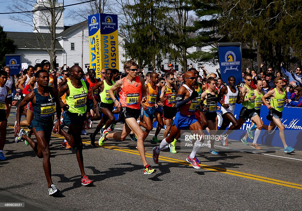 2014 B.A.A. Boston Marathon : News Photo