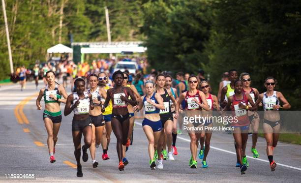 The elite women runners begin the Beach to Beacon 10K on Saturday August 3 2019