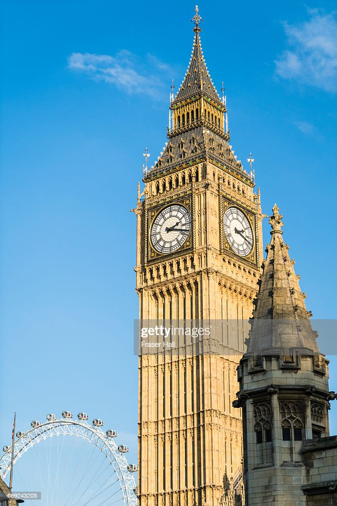 The Elizabeth Tower, Big Ben, Westminster, London : Stock Photo