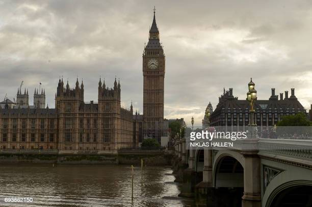 The Elizabeth Tower commonly referred to as Big Ben and the Houses of Parliament are seen from the south bank of the river Thames in central London...