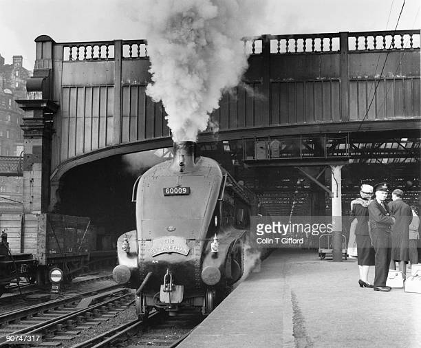 The Elizabethan leaving Waverley Station, hauled by the Class A4 4-6-2 Number 60009 steam locomotive 'Union of South Africa'. Photograph by Colin T...