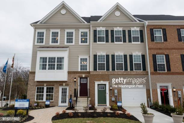 The Ellicott and Cambridge model home at Spring Creek on January 24 2018 in Laurel Maryland