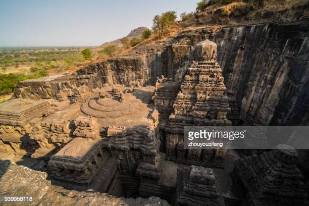 the ellora caves of india - ellora stock pictures, royalty-free photos & images