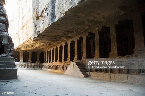 The Ellora Caves, temples cut into solid rock, near Aurangabad, Maharashtra, India