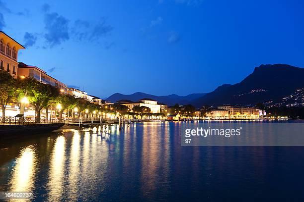 The embankment of Lugano, Switzerland, Canton Ticino.