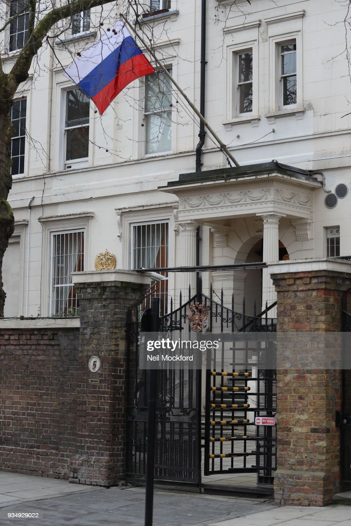 Removal Vans At The Russian Embassy