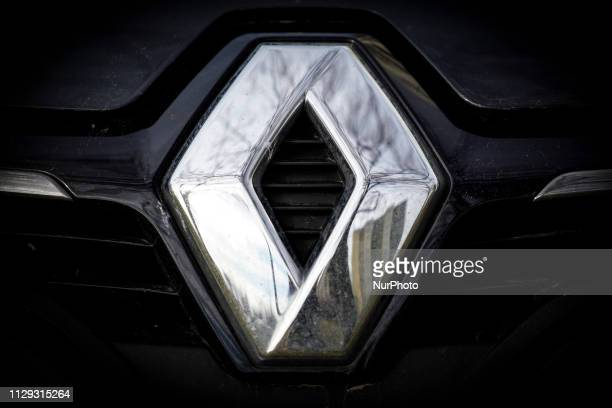 The emblem of a Renault car is seen in Bydgozcz, Poland on March 8, 2019.