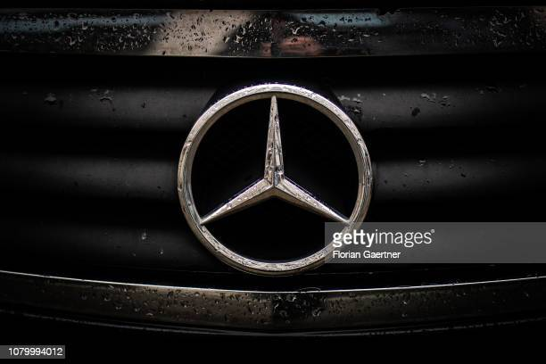 The emblem of Mercedes is pictured on January 09 2019 in Berlin Germany