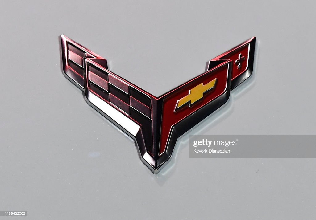 The Emblem Of The 2020 Mid Engine C8 Corvette Stingray Is Seen