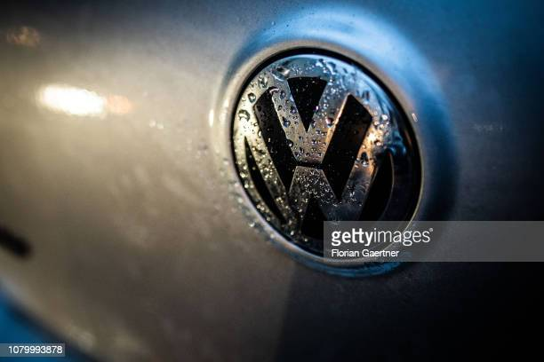 The emblem of VW is pictured on January 09 2019 in Berlin Germany