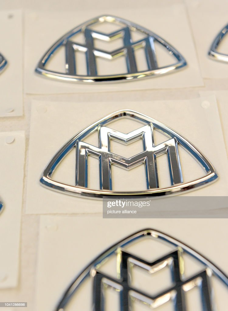 The Emblems Of Mercedes Luxury Car Model Maybach Are On Display At