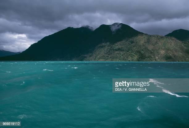 The emerald waters of Lago Todos los Santos Los Lagos Region Chile