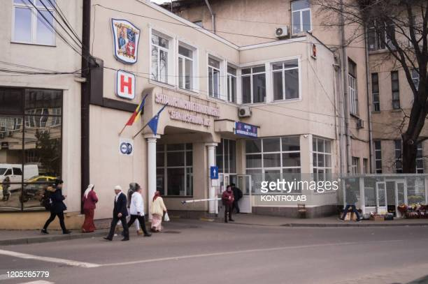 The Emergency Department of the Sfantul Spiridon hospital where a 66-year-old Romanian woman from Milan went with symptoms related to Coronavirus....
