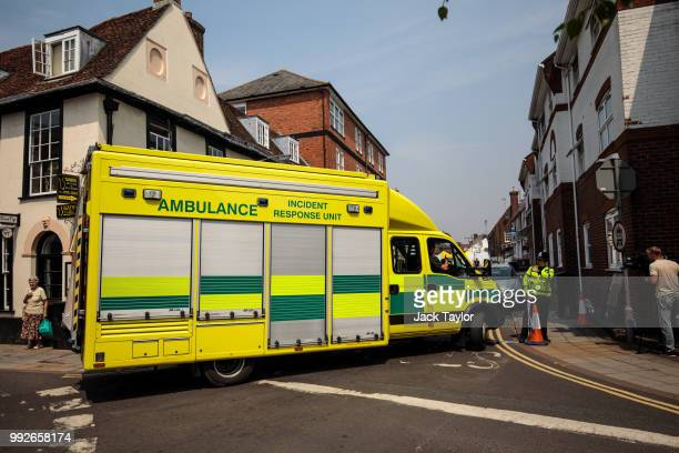 The emergency services arrive at the John Baker House Sanctuary Supported Living after a major incident was declared when a man and woman were...