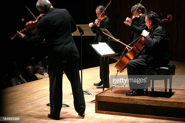 The Emerson String Quartet performing the final concert of The Complete String Quartets of Dmitry Shostakovich at Alice Tully Hall on Sunday night...