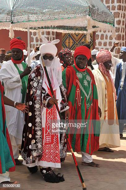 The Emir of Kano walks out of his Palace as people gather to welcome the Emir of Kano Muhammad Sanusi II as he returns back from this year hajj 2015...