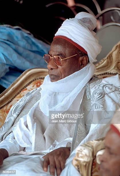 The Emir of Katsina Alhaji Mohammed Kabir Usman attends the official flagoff ceremony for the National Immunization Days in Katsina November 9 2002...