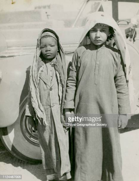 The Emir Talal and his khuwiya or negro 'small brother' playmate Gerald de Gaury was a British military officer he was the British political agent in...