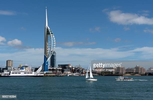 The Emirates Spinnaker Tower Portsmouth viewed across Portsmouth Harbor from Gosport waterfront