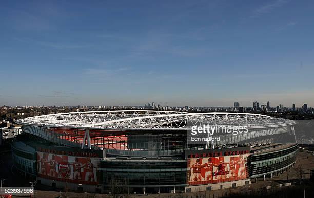 The Emirates Stadium home of Arsenal Football Club in London UK