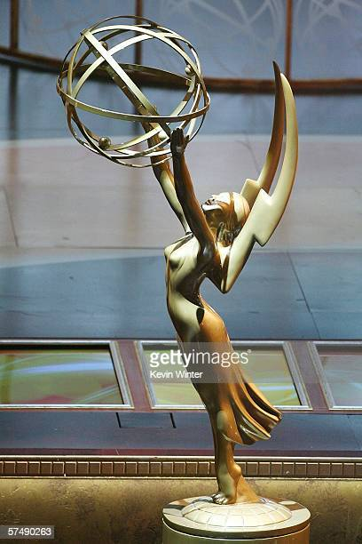 The Emmy Award Trophy onstage during the 33rd Annual Daytime Emmy Awards held at the Kodak Theatre on April 28 2006 in Hollywood California