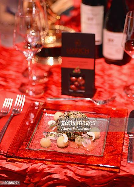 The Emmy Governors Ball appetizer at the 64th Annual Primetime Emmy Awards Governors Ball preview at Academy of Television Arts Sciences on August 22...