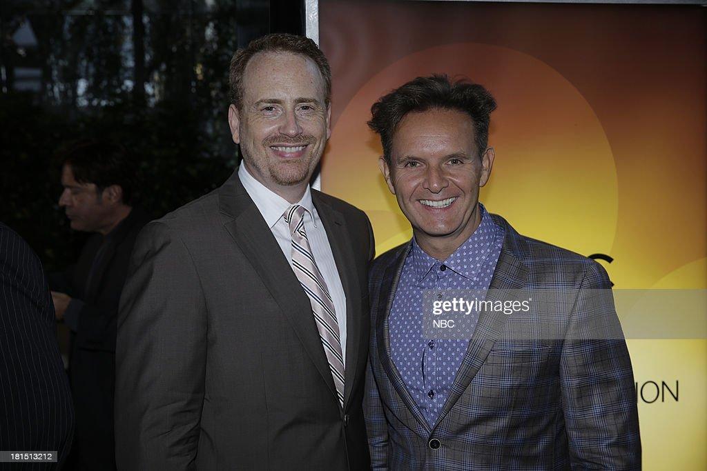 EVENTS -- 'The Emmy Party' -- Pictured: (l-r) Bob Greenblatt, Chairman, NBC Entertaiment, Mark Burnett at Boa Steakhouse, September 21, 2013 --