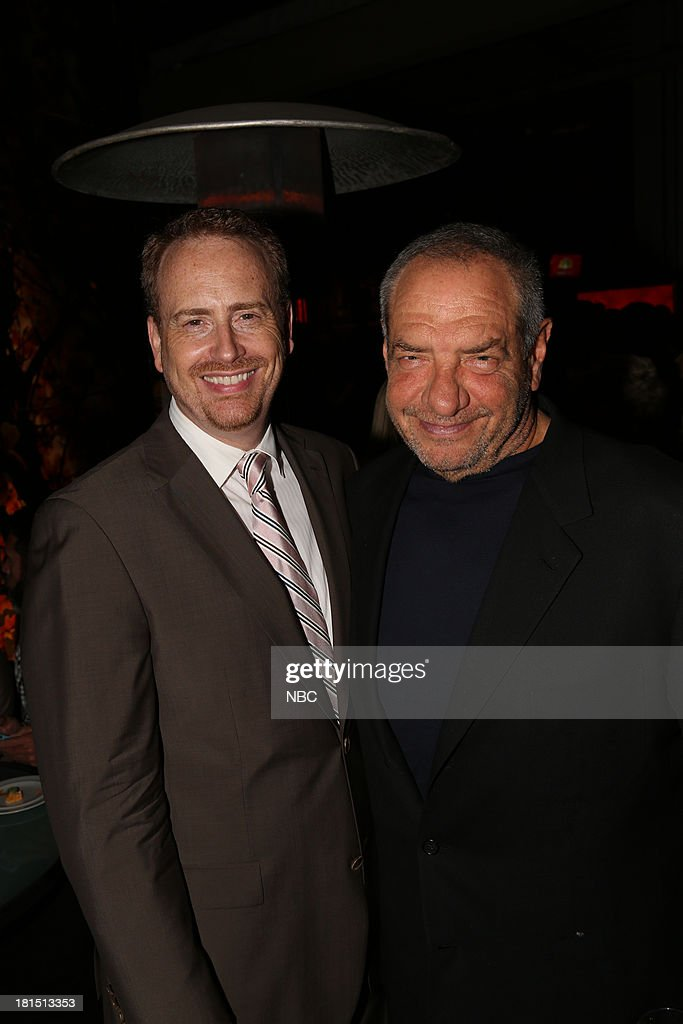 EVENTS -- 'The Emmy Party' -- Pictured: (l-r) Bob Greenblatt, Chairman, NBC Entertainment; Dick Wolf at Boa Steakhouse, September 21, 2013 --