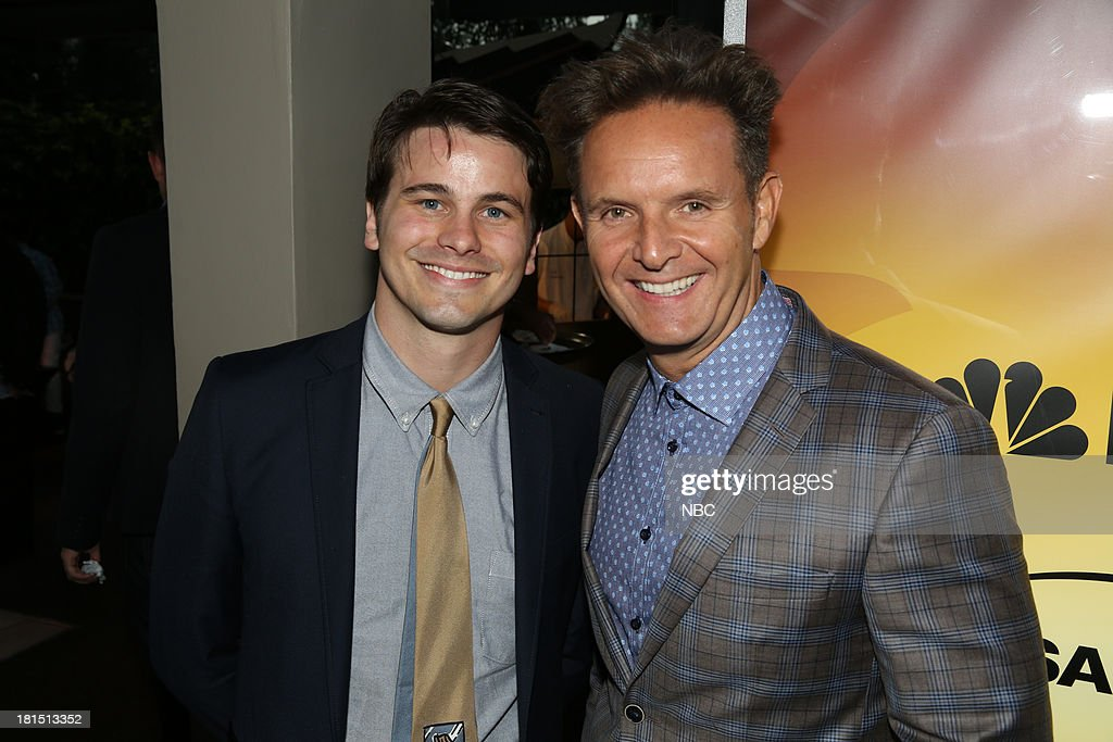 EVENTS -- 'The Emmy Party' -- Pictured: (l-r) Jason Ritter from 'Parenthood'; Mark Burnett, Executive Producer of The Voice at Boa Steakhouse, September 21, 2013 --